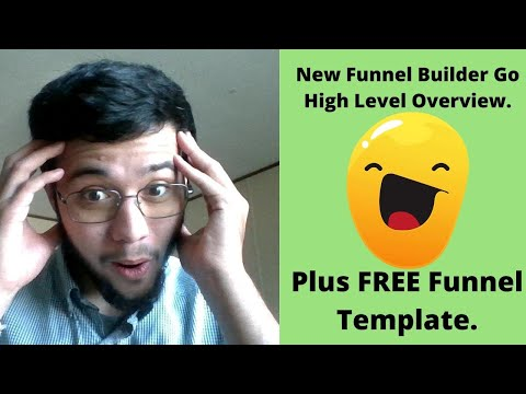 New Funnel Builder Go High Level Overview. Plus FREE Funnel Template.