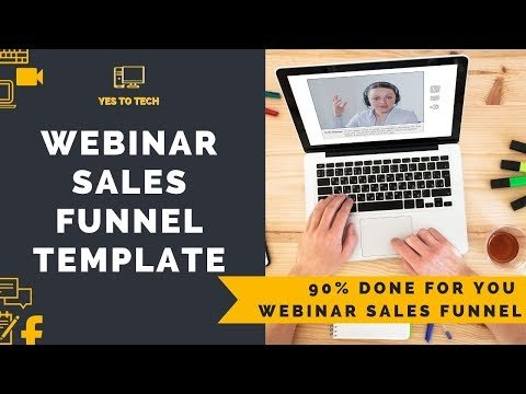 WEBINAR SALES FUNNEL TEMPLATE: Get This 90% Done For You Webinar Sales Funnel Template