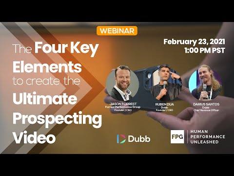 4 Key Elements to create the Ultimate Prospecting Video