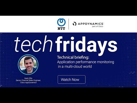 NTT Ltd. & Cisco AppDynamics techfridays webinar on app performance monitoring in a multicloud world