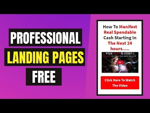 Landing Pages FREE 2021 | Professional Landing Page | How To Create FREE Landing Page Hindi Tutorial