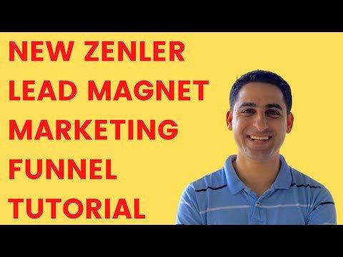 🚨 New Zenler Tutorial [Lead Magnet Marketing funnel Training] 🚨