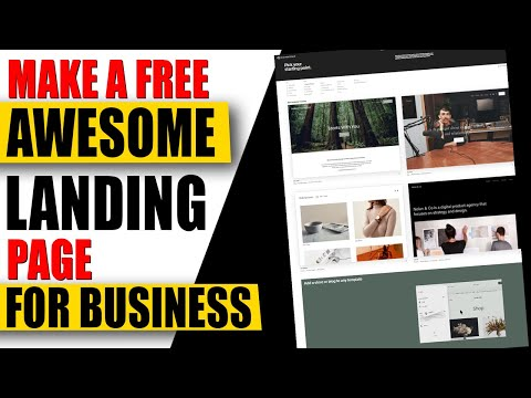 How to Make A Landing Page For Free ✅