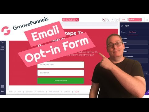 How To Create An Email Opt-In Landing Page in GrooveFunnels using GroovePages