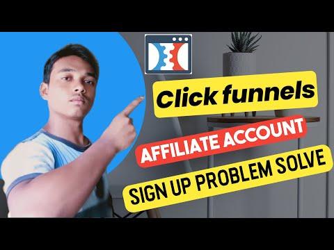 Click funnels Affiliate account sign up problem solve