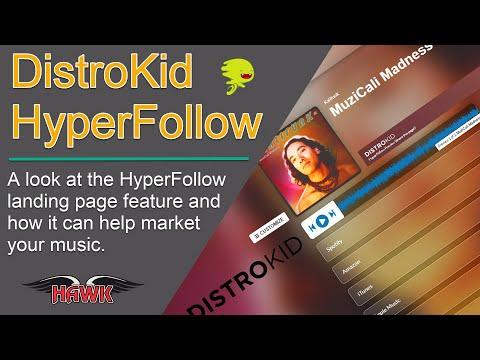 DistroKid HyperFollow Music Marketing Landing Page