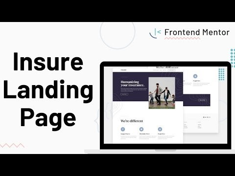 Insure Landing Page – Design to HTML/CSS