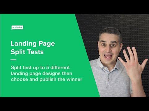 Landing Page Split Tests