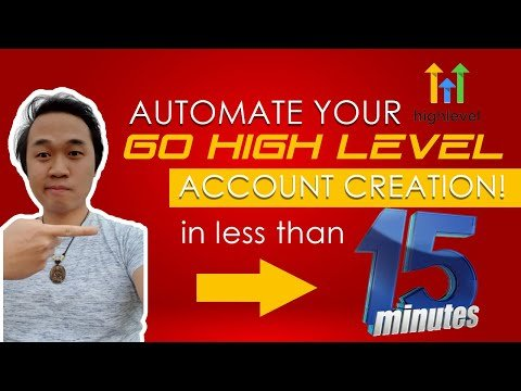 HOW TO AUTOMATE YOUR GO HIGH LEVEL ACCOUNT CREATION IN15 MINUTES OR LESS!! (GHL + ZAPIER)