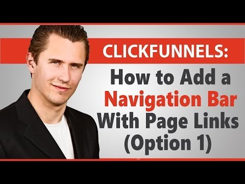 ClickFunnels: How to Add a Navigation Bar With Page Links (Option 1)