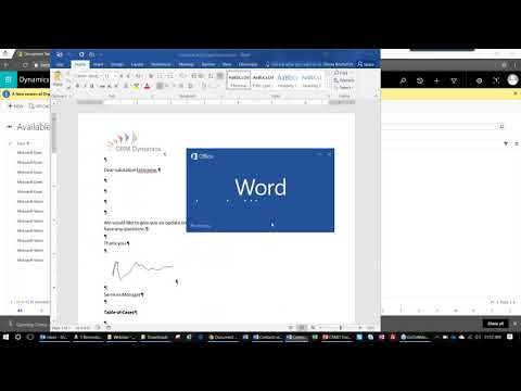 Using Word and Excel Templates in Dynamics 365