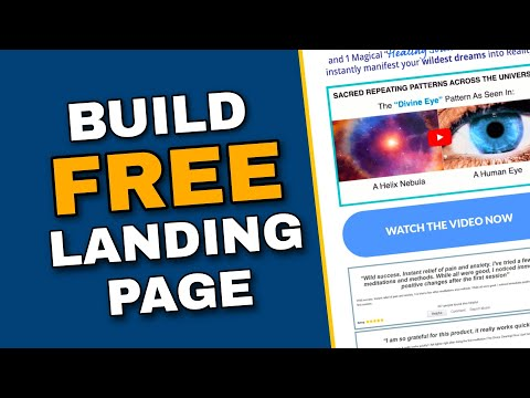 How to build a free landing page for affiliate marketing [step by step]
