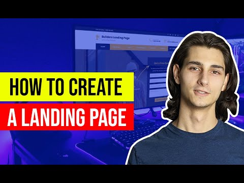 ✅ How To Create A Landing Page With a Website Builder in 2021