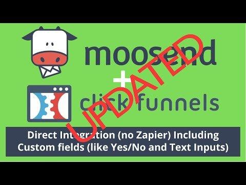 Moosend ClickFunnels HTML Form Integration [UDPATE] – Moosend to ClickFunnels Direct Integration