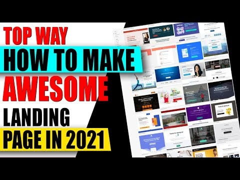 How to Make Awesome Landing Page For Free ✅