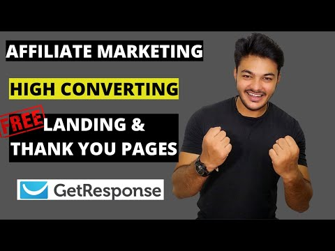 How to Create FREE Landing Pages and Thank You Pages In 2020 | Affiliate Marketing [ GetResponse ]