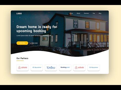 Website Landing Page Design Using HTML & CSS