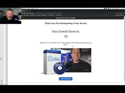 ClickFunnels – Survey Calculates Total Score and Send Email with Results – se-l