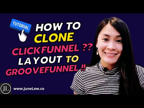 How To Clone or Copy ClickFunnels Landing or Funnel Page Layout & Design to GrooveFunnels Tutorial?
