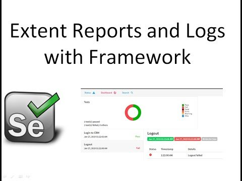 Integrate Extent Report and Logs in Framework