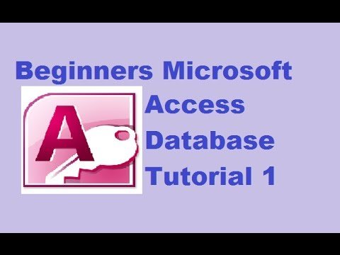 Beginners MS Access Database Tutorial 1 – Introduction and Creating Database