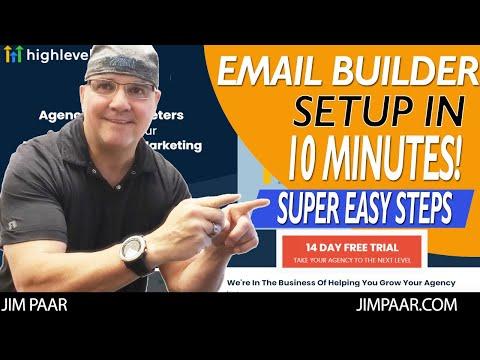 Go HighLevel Review Email Builder Easy Setup – Go High Level Tutorial