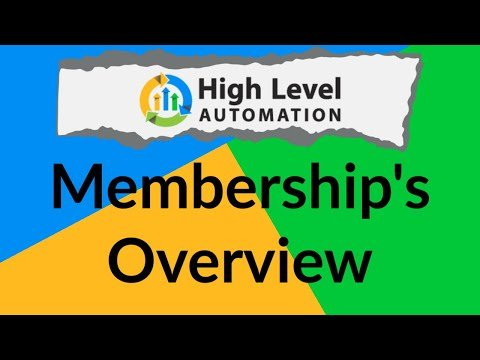 Go High Level Automation – Onboarding Video 15: Membership Sites Overview