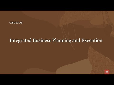 Integrated business planning and execution