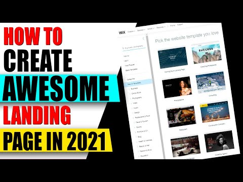 How to Create LANDING PAGE For Free Easy✅