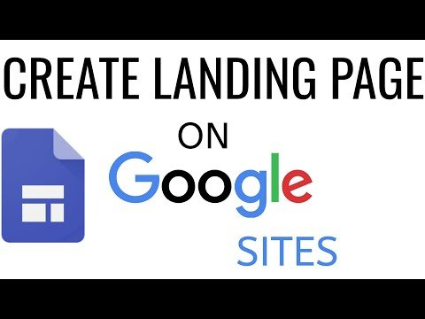 How To Create A Landing Page On Google Sites | google sites tutorial