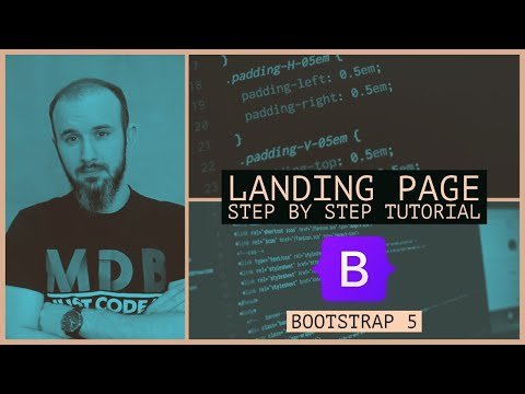 Build A Landing Page using Bootstrap 5   Full Step by Step Tutorial