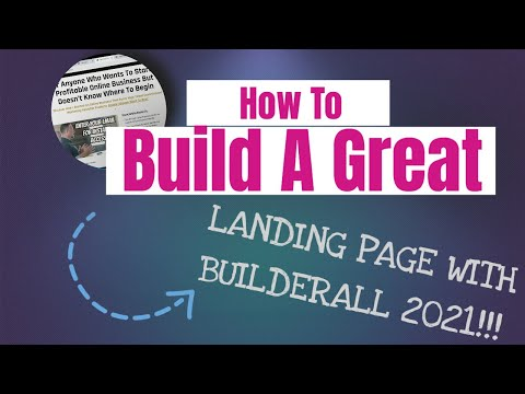 How To Build A Great Landing Page In Builderall In 2021