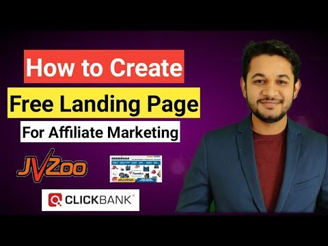 How to Create a landing page for Affiliate marketing Free with GroovePages for ClickBank Products.