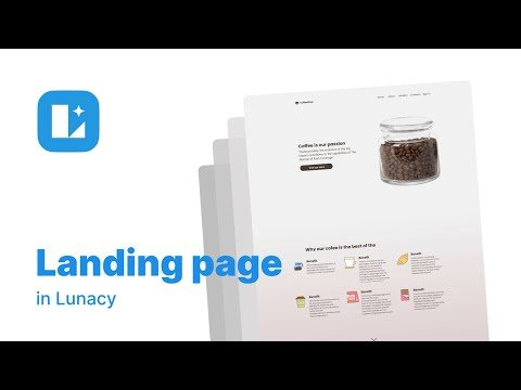How to create a landing page with Lunacy | Icons8