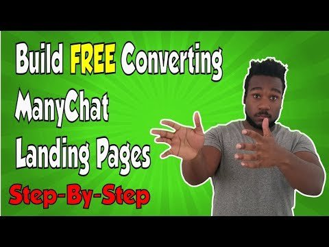 How to MAKE A MANYCHAT LANDING PAGE that converts! (FREE)