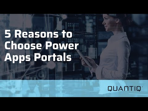 WinTEQ 2021 | 5 Reasons to Choose Power Apps Portals
