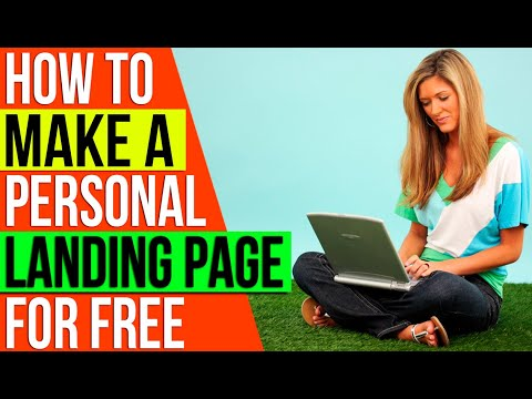 ✅ How to Make A Personal Landing Page For Free 🔥