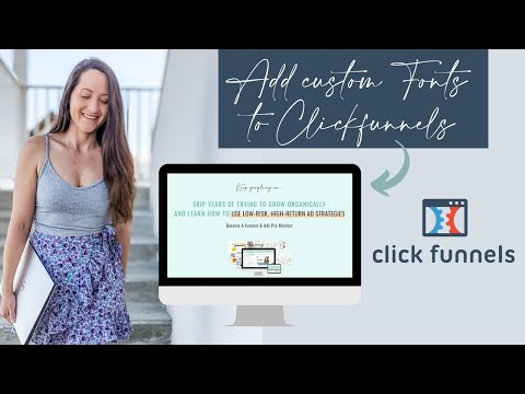 Clickfunnels Tutorial: How to Add Your Own Font (Custom Font CSS Code)