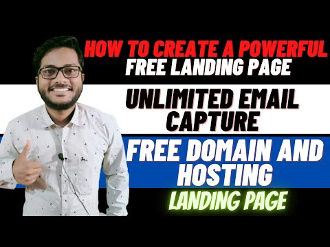 How to Create a Powerful Free Landing Page |Unlimited Email Capture| landing page @Digital Shivam