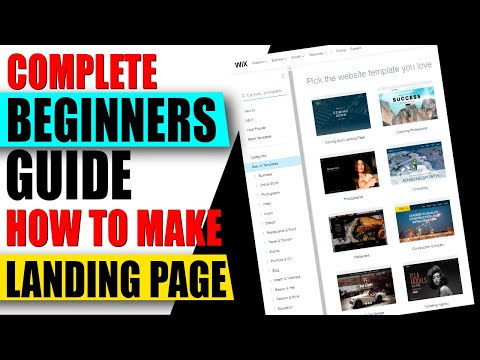 How to Make A Landing Page For Beginners✅