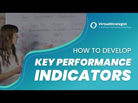 How to Develop Key Performance Indicators