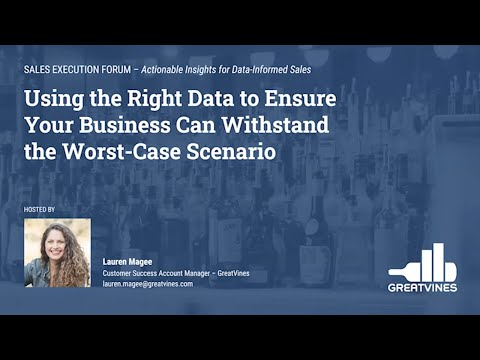 Webinar – Using the Right Data to Ensure Your Business Can Withstand the Worst-Case Scenario
