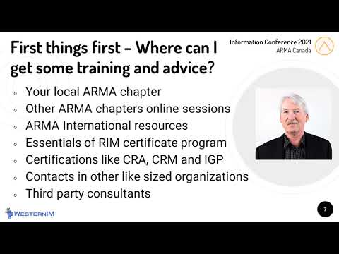 Records and Information Management for Small Organizations