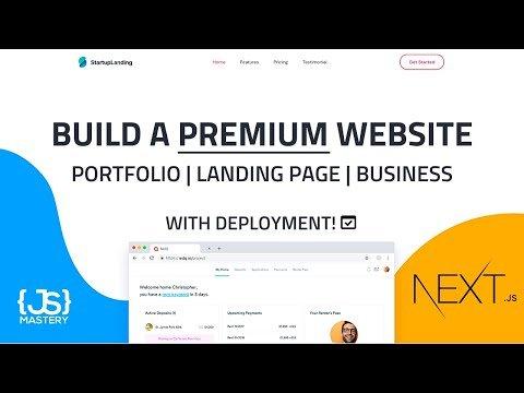 Build and Deploy a Premium Next JS React Website   Landing Page, Business Website, Portfolio