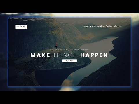 Build Responsive Landing Page Using HTML5 and CSS3