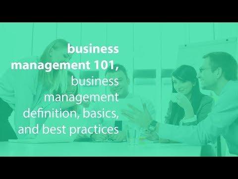 business management 101, business management definition, basics, and best practices