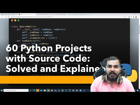 60 Python Projects With Source Code- Solved And Explained