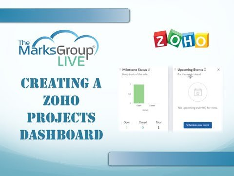 Zoho Projects Dashboard: How to Create One