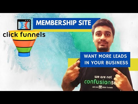 How to Create Membership Site in ClickFunnels || Lead magnet Affiliate marketing