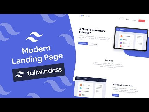 Build a Modern Landing Page With Tailwind CSS